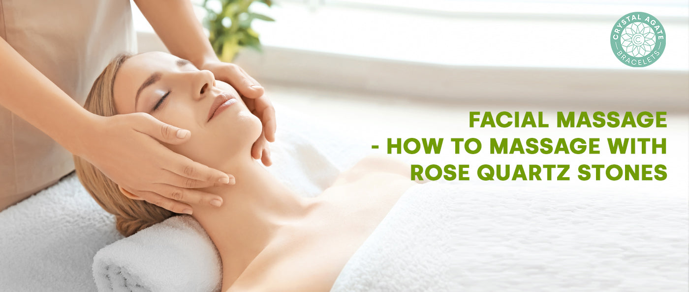 Facial Massage - How to Massage with Rose Quartz Stones