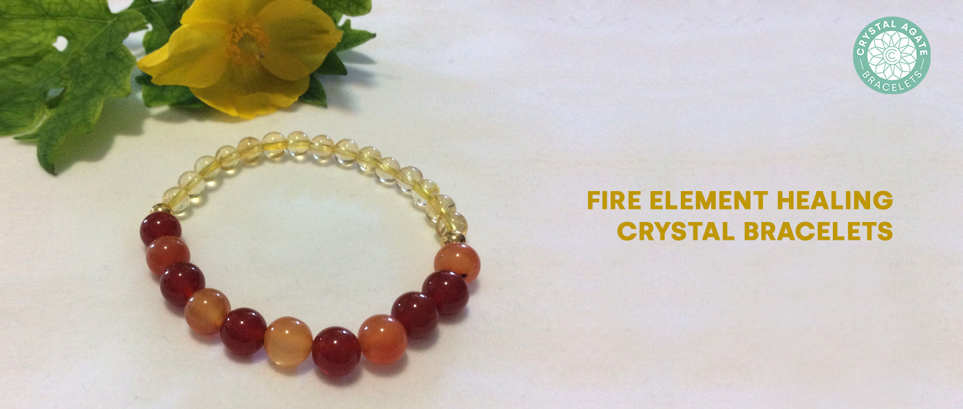 Fire Element Healing Crystal Bracelets
