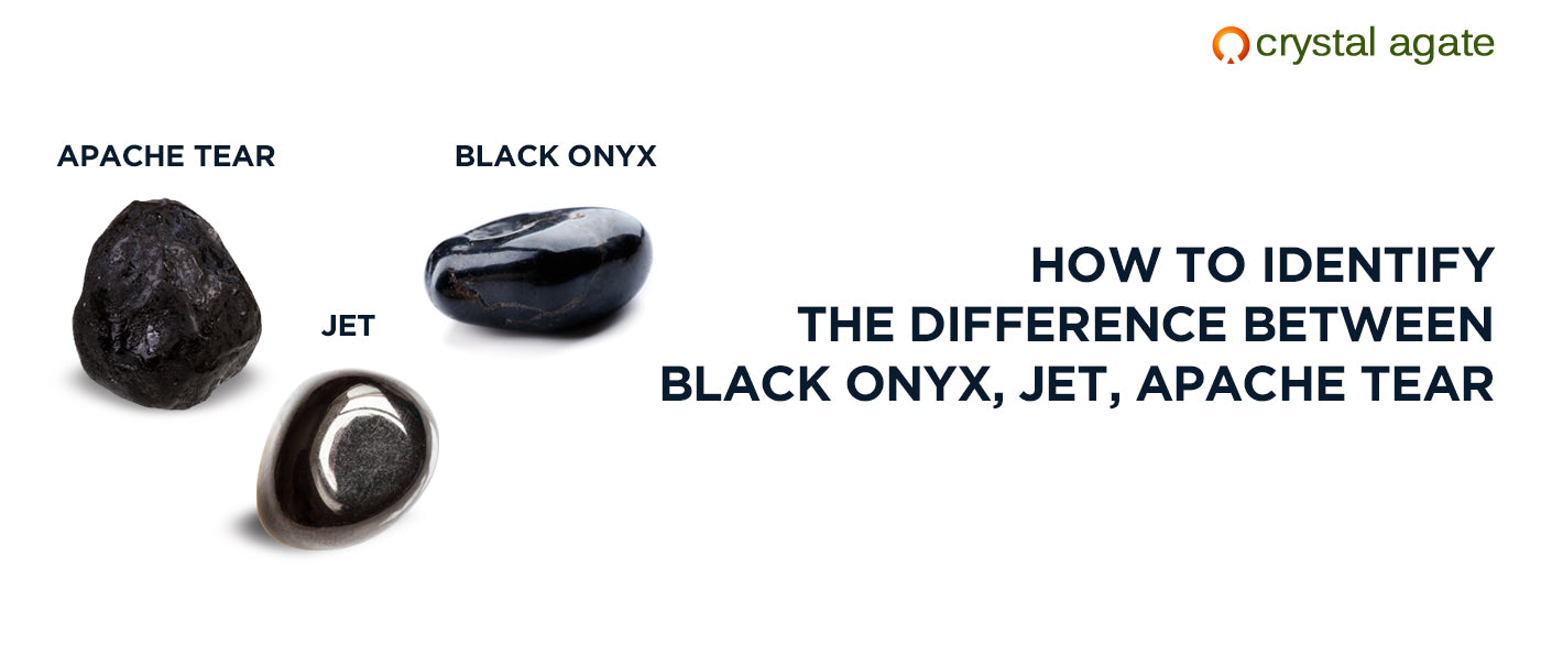 difference between Black Onyx, Jet, apache tear
