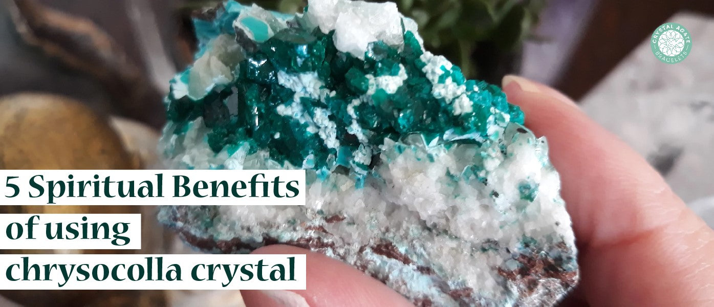 5 Spiritual benefits of using chrysocolla crystal