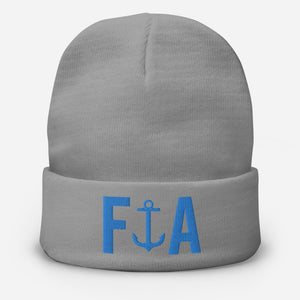 False Anchors Embroidered Beanie