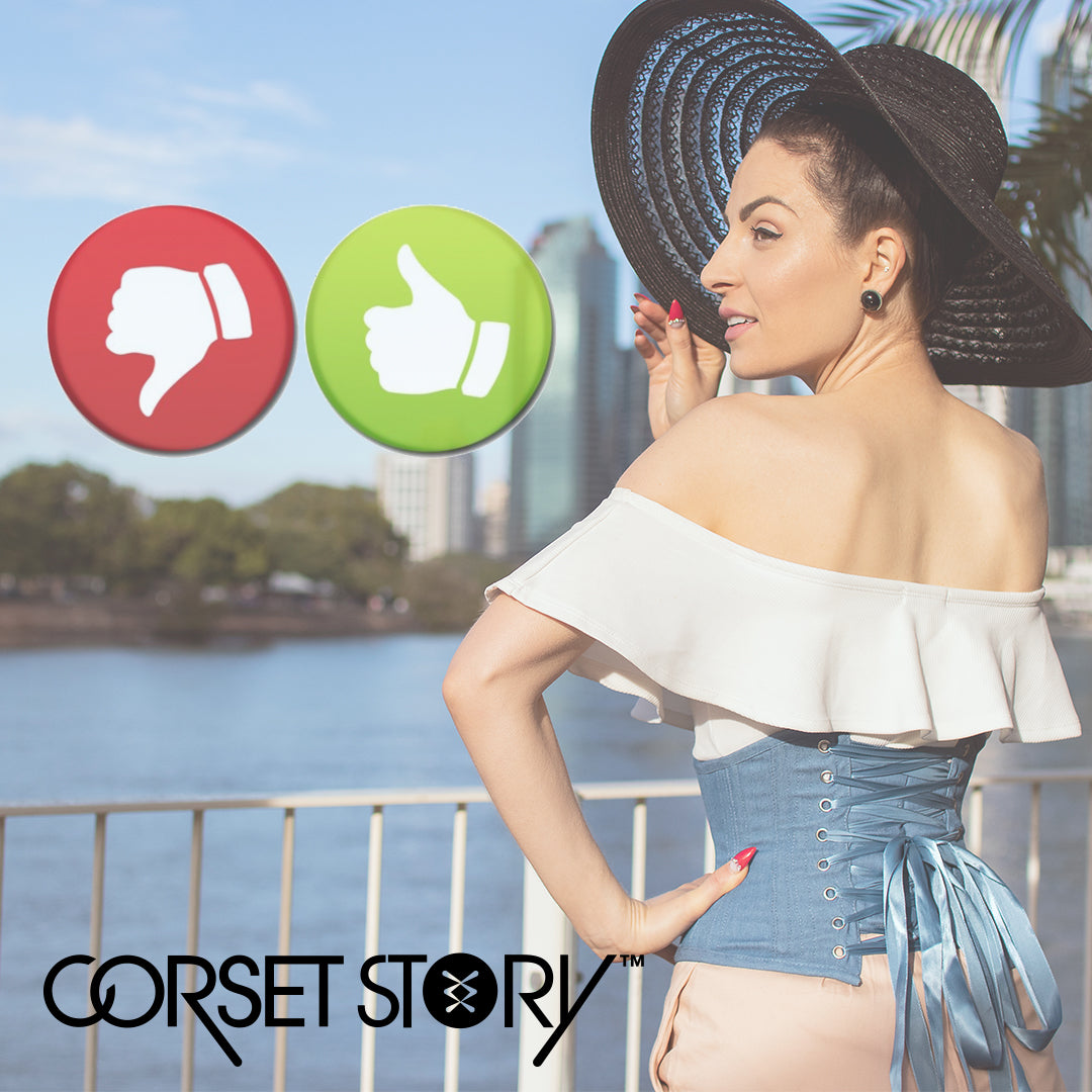 The pros and cons of corsets