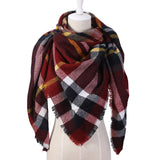 Winter Triangle Scarf For Women Brand Designer Shawl Cashmere Plaid Scarves Blanket Wholesale Drops