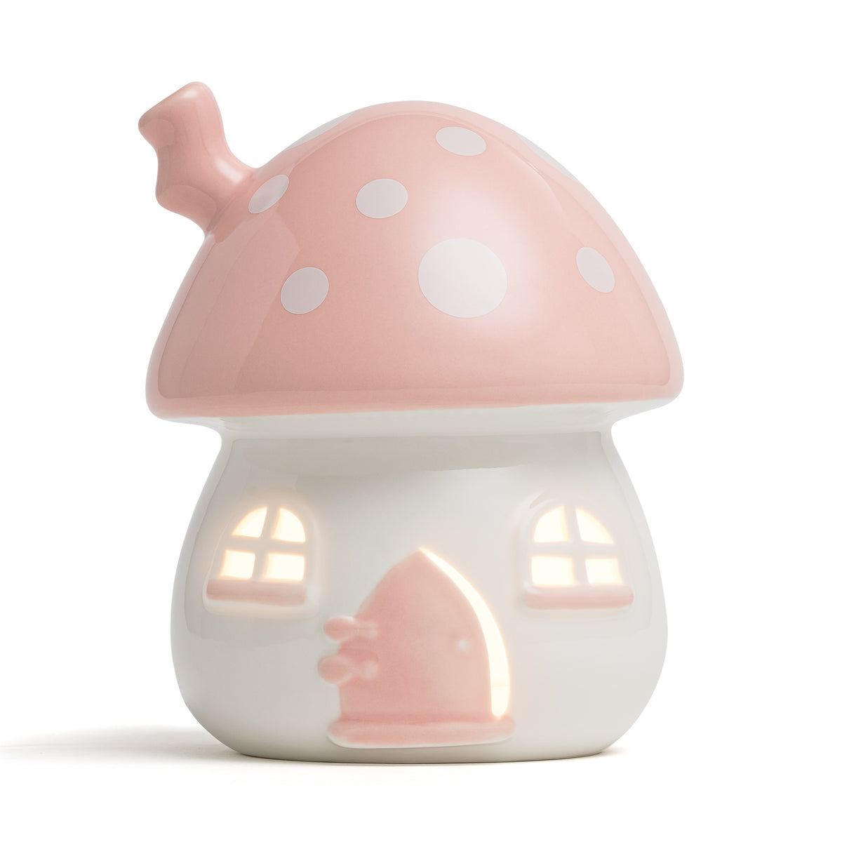 Little Belle Fairy House Nightlight - Pink & White [Plug-in]