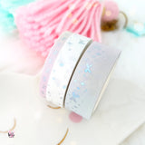 SET OF 3 holo foil washi - stars and bows