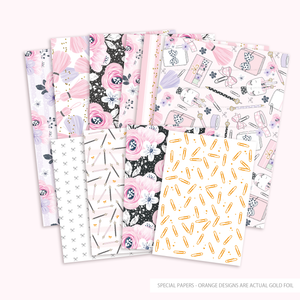 Planner Girl paper collection - LIMITED EDITION - 10  | gold foil