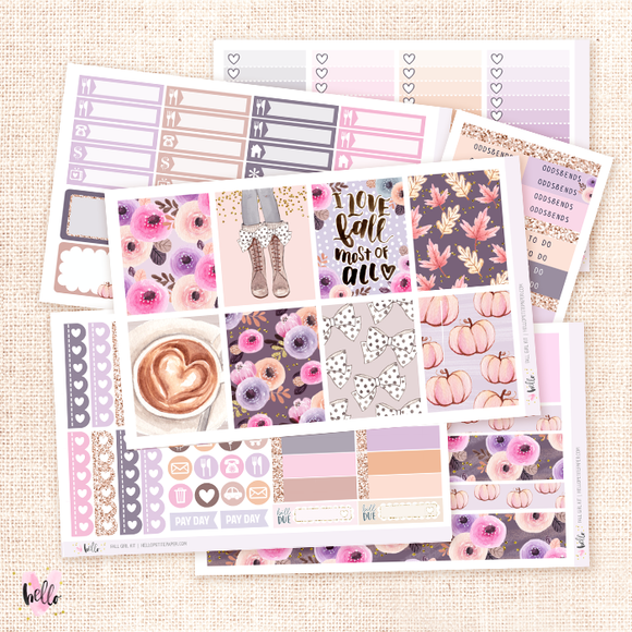Fall Girl -  sticker kit