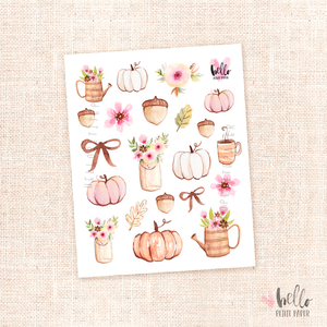 Fall in love - Kit deco, planner stickers