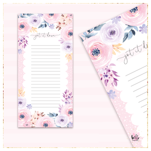 Long List Notepad - Floral