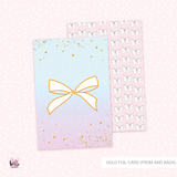 2 foiled Journaling cards | double sided  - Merbabe