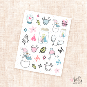 Oh what fun  - Kit deco, planner stickers