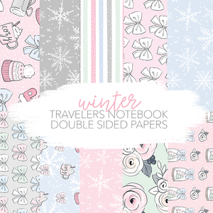 Winter papers - 5 double sided A4 scrapbook papers