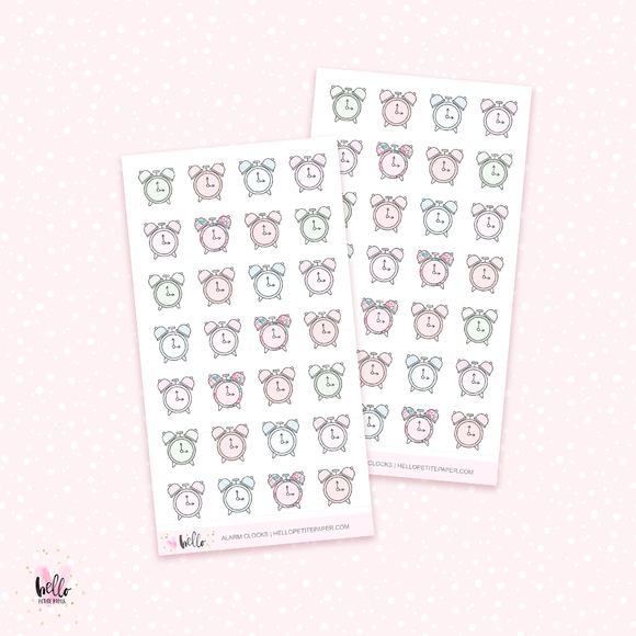 Alarm clocks - mini planner stickers