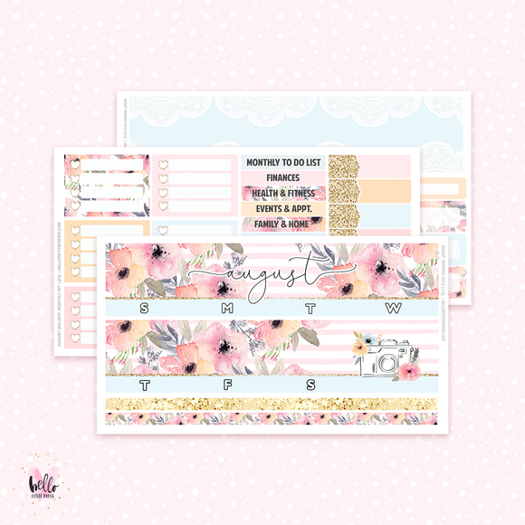 2019 August Monthly Sticker Kit