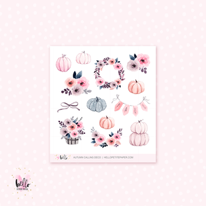 Autumn Calling - Kit deco, planner stickers