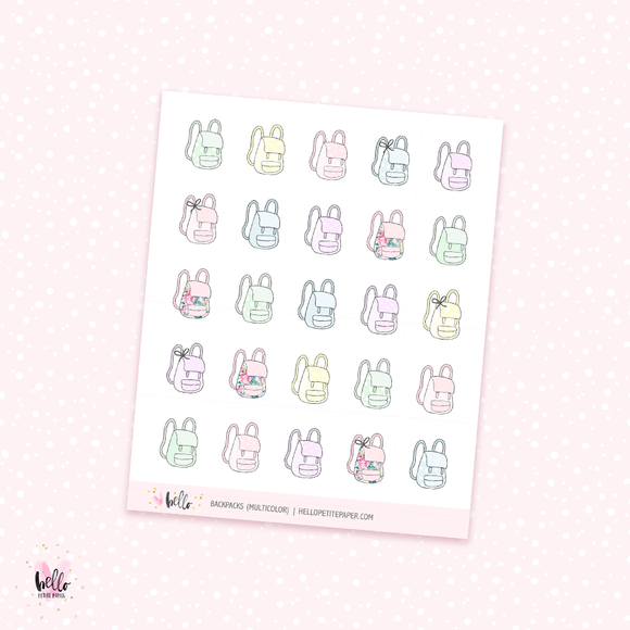 Backpacks - planner stickers