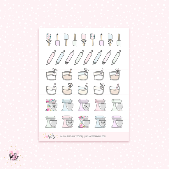 Baking - planner stickers