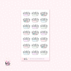 Bath Time - planner stickers