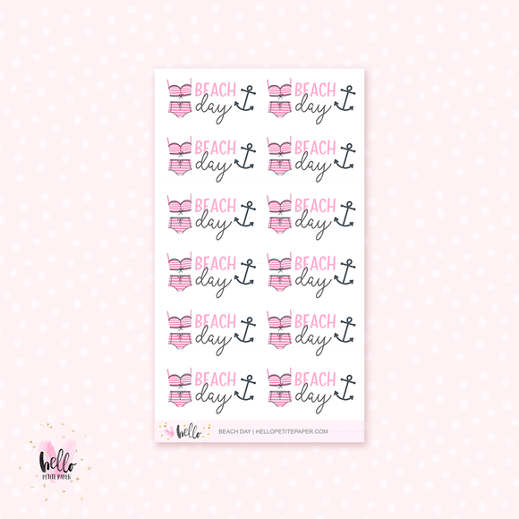 Beach Day - planner stickers