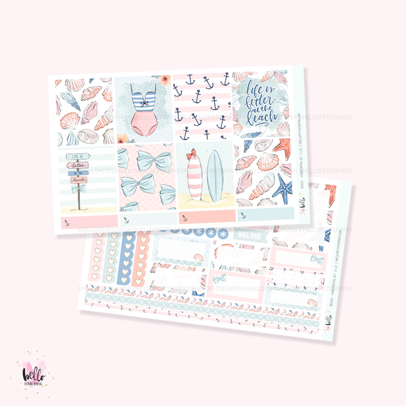 Beach - Horizontal sticker kit