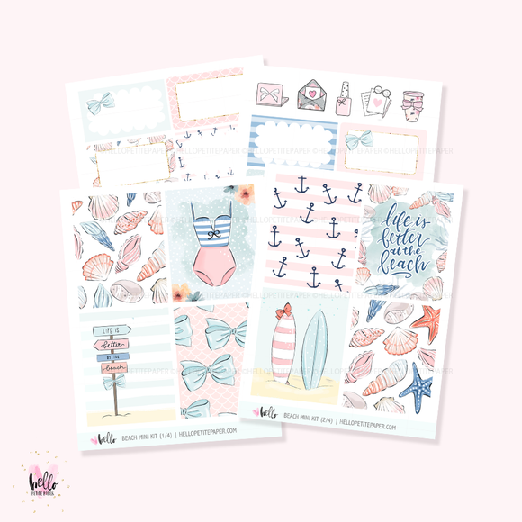 Beach  - Mini sticker kit