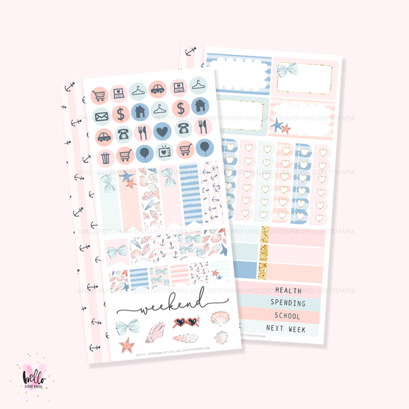 Beach - Personal size sticker kit
