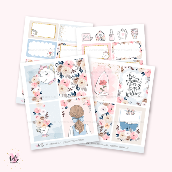 Belle - Mini sticker kit