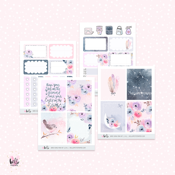 Bird Song  - Mini sticker kit