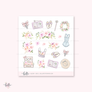Bloom - Kit deco, planner stickers