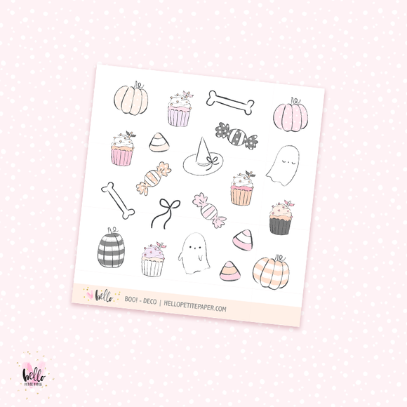 Boo! - Kit deco, planner stickers