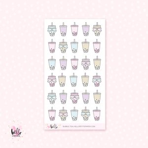 Bubble Tea - planner stickers