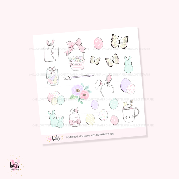 Bunny Trail - Kit deco, planner stickers