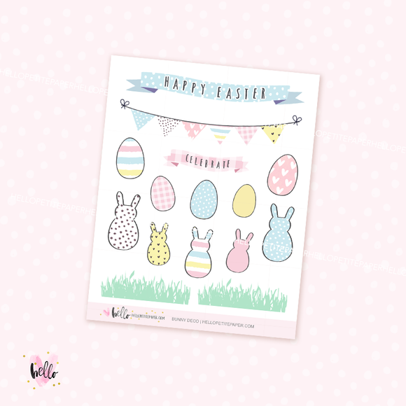 Bunny - Kit deco, planner stickers