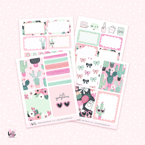 Prickly Pink MINI sticker kit