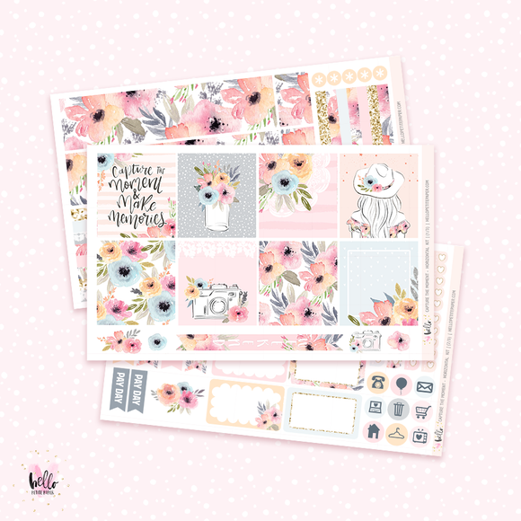 Capture the moment - Horizontal sticker kit