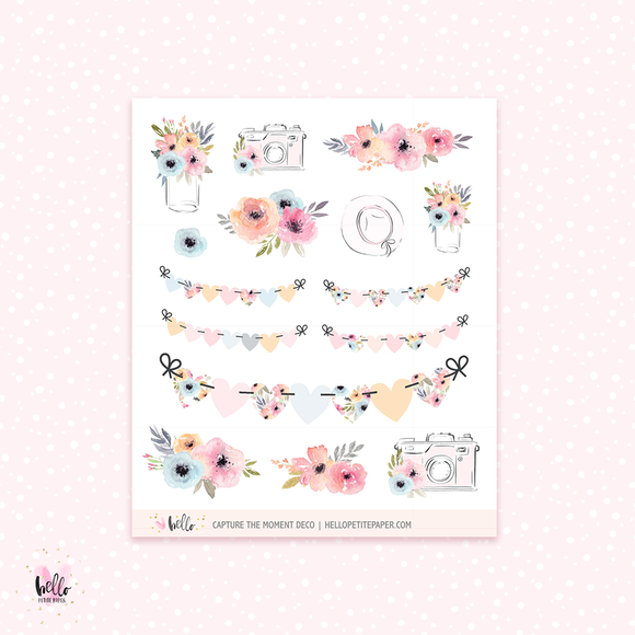 Capture the moment - Kit deco, planner stickers