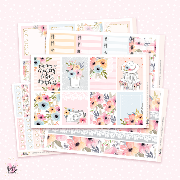 Capture the moment sticker kit