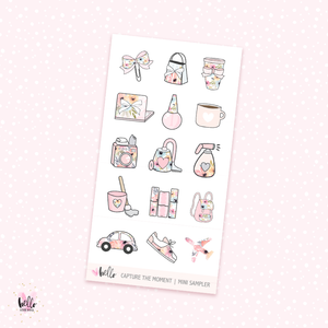 Capture the moment - mini sticker sheet