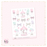 Caroussel - Kit deco, planner stickers