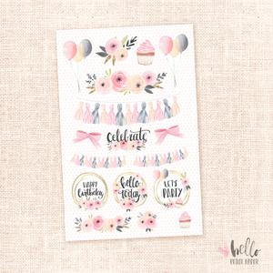 Celebrate - Kit deco, planner stickers