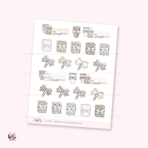 TN love (cheetah print) - planner stickers