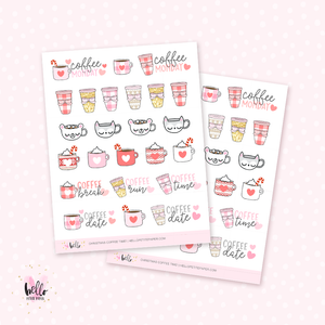 Christmas Coffee love - planner stickers