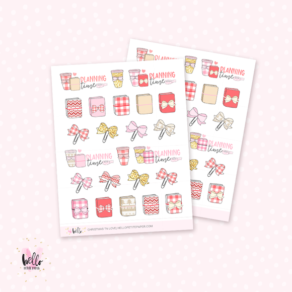 Christmas TN love - planner stickers