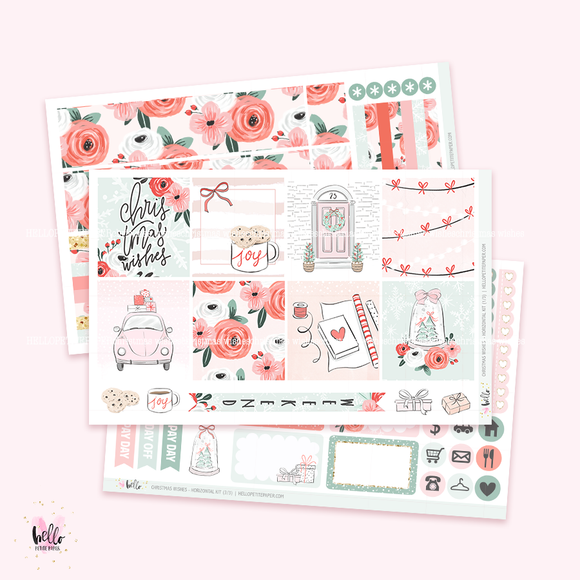 Christmas Wishes - Horizontal sticker kit