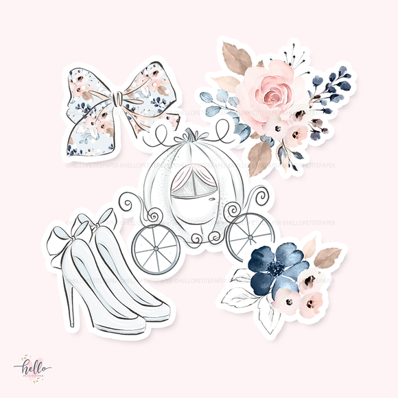 Cinderella Die-Cuts (set of 5)