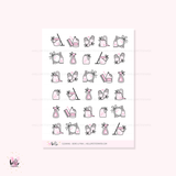 Cleaning (pink or rainbow) - planner icon stickers