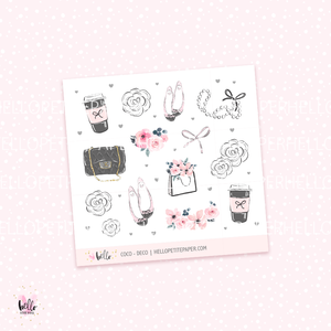 Coco - Kit deco, planner stickers