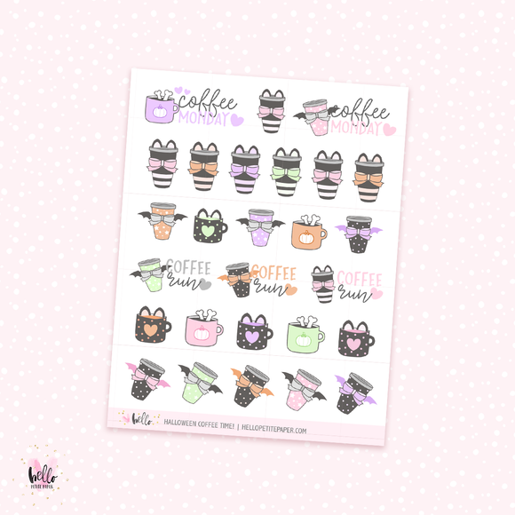 Halloween Coffee - planner stickers