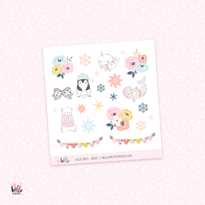 Cold Days  - Kit deco, planner stickers