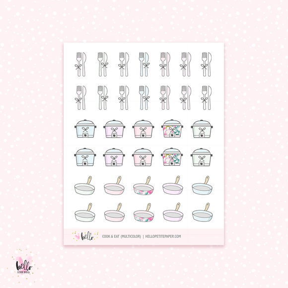 Cook & Eat - planner stickers